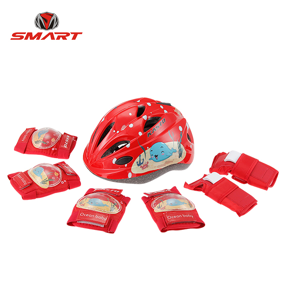 bike helmet and pads set 01